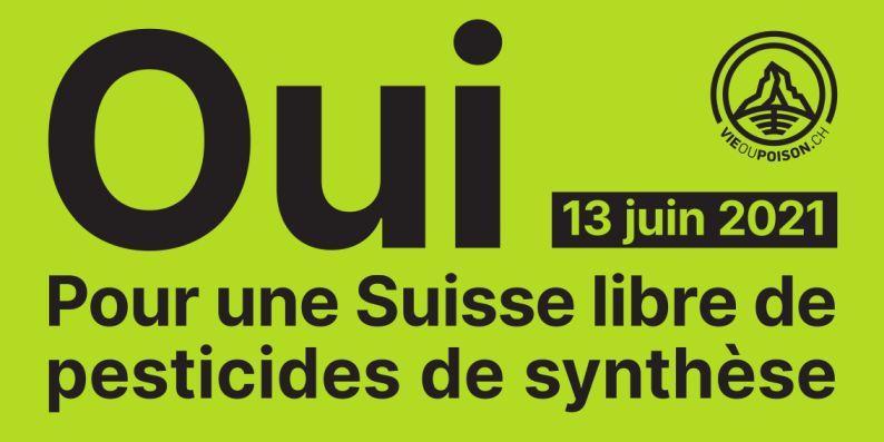 Oui le 13 juin pour une Suisse libre de pesticides de synthèse